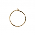 Metal Earring hoops to decorate 18x0.8 mm Gold Tone x2
