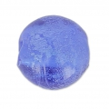 Silver foil rounds  8mm Light Sapphire x10