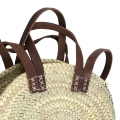 Handbag in woven straw 30 cm Natural x1