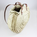 Handbag in woven straw 40x30 cm Natural x1