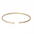 Brass diamond bangle bracelet 2 loops 54x50 mm Matte Gold Tone x1