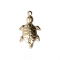 Thin turtle charm 16x9 mm - 14Kt Gold-filled x1