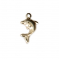 Thin dolphin charm 13x7.80 mm - 14Kt Gold-filled x1