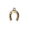 Thin horseshoe charm 12x9 mm - 14Kt Gold-filled x1