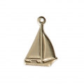 Thin boat charm 15.30x10.30 mm - 14Kt Gold-filled x1