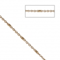 Belcher chain with Faceted beds 1.35 mm Gold tone x1m