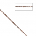 Belcher chain with Faceted beds 1.35 mm Rose Gold Tone x1m