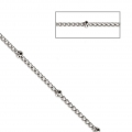 Belcher chain with round beds 2.00 mm Rhodium Tone x1m