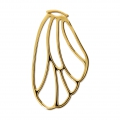 Pendant/spacer butterfly's wing 36x21 mm Gold Tone x1