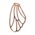 Pendant/spacer butterfly's wing 36x21 mm Rose Gold Tone x1