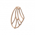 Pendant/spacer butterfly's wing 20.5x12 mm Rose Gold Tone x1