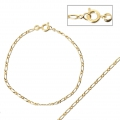 Figaro mesh bracelet 2.10 mm - Gold Plated 3 microns x1