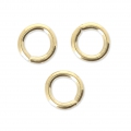 Round jumprings open 3 micron 5x0.9 mm - Gold Plated 3 microns x6
