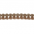 Mini tassel braid 13 mm Brown/Gold x1m