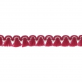 Mini tassel braid 13 mm Red/Gold x1m