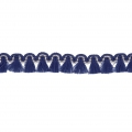 Mini tassel braid 13 mm Navy Blue/Gold x1m