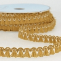 Mini tassel braid 13 mm Mustard/Gold x1m