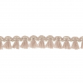 Mini tassel braid 13 mm Beige/Gold x1m