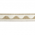 Jacquard Ribbon/braid wave pattern 16 mm Cream/Beige x1m
