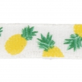 Printed ribbon/braid tropical theme 10 mm Pineapple  x1m