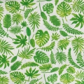 TCotton Cretonne Fabric - Tropical - Monstera and Palm leaves x10cm