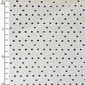 English embroidery fabric - Dots - Cream x10cm
