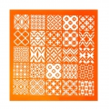 Silk Screen for polymer clay 120x118 mm - Stencil Tiny Tiles