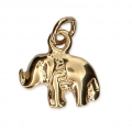 Elephant Charm 10x12 mm Gold plated 3 microns x1