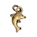 Dolphin Charm 13x7 mm Gold plated 3 microns x1
