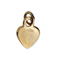 Heart Charm 11x6 mm Gold plated 3 microns x1