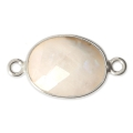 925 Sterling Silver Spacer 2 loops 11x13mm - Moonstone x1