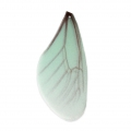 Butterfly wings pendant with 2 holes 45x20 mm Mint and Brown x1