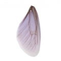 Butterfly wings pendant with 2 holes 45x20 mm Violet and Brown x1