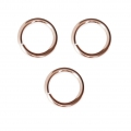 14Kt Rose Gold-filled jumprings open 6x1mm x10