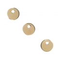 Round seqions/charms 4 mm - 14Kt Gold-filled  x4