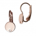Leverback 8 mm with 1 hole - HQ Rose Gold Tone x2