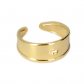 Bronze wide adjustable ring 1 loop - Gold Plated 3 microns x1