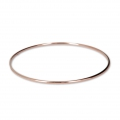 Bronze bangle bracelet 68 mm - Rose Gold Plated 3 microns x1