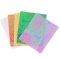 10 Sheets for resin  - Luminous effect - Multicolored x1
