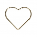 Closed heart-shaped ring 17.5 mm 14Kt Gold-Filled x1