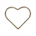 Closed heart-shaped diamond ring 17.5 mm 14Kt Gold-Filled x1