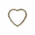 Closed heart-shaped diamond ring 10 mm 14Kt Gold-Filled x1