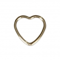 Closed heart-shaped ring 10 mm 14Kt Gold-Filled x1
