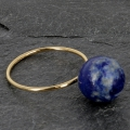 14 Kt Gold-Filled fine ring for half-drilled bead 6 / 8 and 10 mm - Size 49 x1