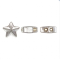 925 sterling silver 9.3 mm slider bead with 2 holes of 1.3 mm each - Star x1