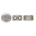 925 sterling silver 6 mm slider bead with 2 holes of 1.3 mm each - Puck x1