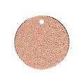 Round sequins with a diamond effect 15 mm Rose Gold Tone x5