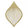 Drop pendant 50x33 mm for DIY jewelry - Gold Tone x1
