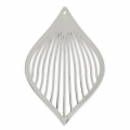 Drop pendant 50x33 mm for DIY jewelry - Silver Tone x1