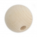 Natural wooden round bead 25 mm x1
